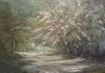 Herbstwald, Schatten, Lichtung, Wald