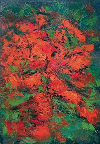 Blüte, Acrylmalerei, Abstrakt, Malerei