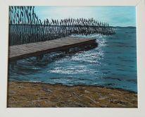 Strand, Scharmützelsee, Wasser, Malerei
