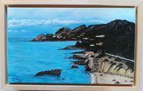 Wasser, Insel, Bucht, Malerei