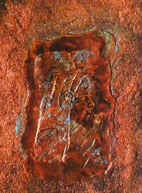 Collage, Mischtechnik, Ägypten, Göttin