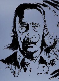 Acrylmalerei, Portrait, Malerei, Dalí