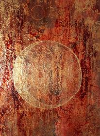 Acrylmalerei, Mond, Malerei, Blutmond