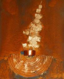 Licht, Flammen, Malerei, Collage