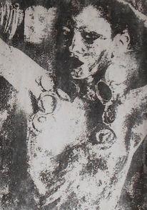 Schatten, Acrylmalerei, Frau, Malerei