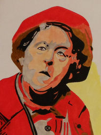 Margaret rutherford, Miss marple, Malerei, Portrait