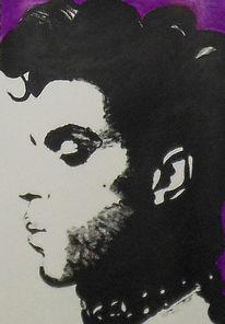 Malerei, Acrylmalerei, Portrait, Prinz