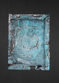 Collage, Isis, Relief, Patina