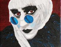 Rocky horror show, Portrait, Acrylmalerei, Riff raff