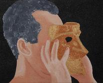 Acrylmalerei, Wahrheit, Menschen, Maske