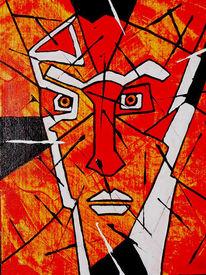 Acrylmalerei, Taurus, Fantasie, Malerei