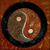Collage, Rost, Patina, Ying yang