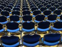 Stuhlreihe, Blau, Grugahalle, Leere