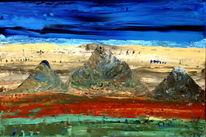 Abstrakt, Bunt, Berge, Kreta