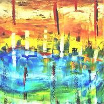 Wald, Landschaft, Mountainbike, Abstrakt