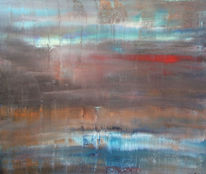 Abstrakt, Acrylmalerei, Sog, Strömung