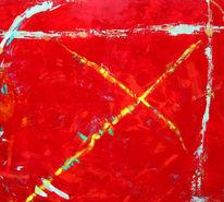 Kreuzung, Entscheidung, Abstrakt, Rot