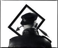 Mann, Schwarz weiß, Handabzug, Hut