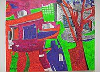 Acrylmalerei, Fantasie, Surreal, Kräftig