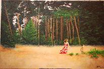 Waldidylle, Baum, Lichtung, Gestaltung