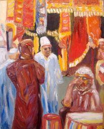 Ölmalerei, Medina, Expressiver realismus, Souk