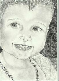 Kind, Lächeln, Portrait, Baby