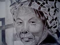 Frau tuch gesicht, Zeichnungen