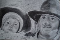 Kind, Gesicht, Hut, Frau