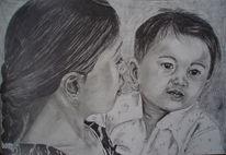 Kind mutter gesicht, Zeichnungen