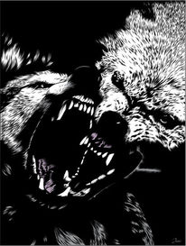 Furcht, Angst, Wolf, Illustrationen