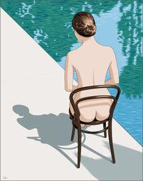 Frau, Wasser, Leichtigkeit, Illustrationen