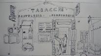Tabacchi, Geschäft, Rom, Fassade