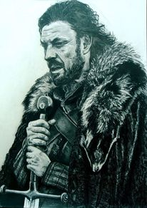 Game of thrones, Fanart, Schwarz, Weiß