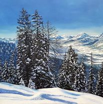 Winter, Alpen, Landschaft, Berge
