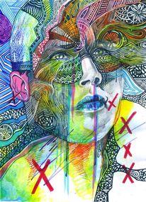 Polychromos tusche filzstifte, Zeichnungen, Schweigen
