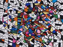 Bunt, Abstrakt, Fenstermalerei, Fantasie