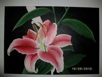 Pflanzen, Lilie, Acrylmalerei, Malerei
