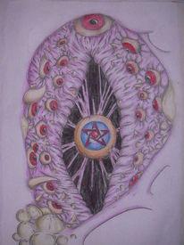 Organisch, Augen, Alien, Malerei