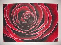 Rose, Acrylmalerei, Malerei