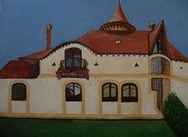 Himmel, Haus, Ungarn, Gebäude