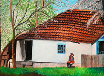 Frühling, Landschaft, Rumänien, Malerei