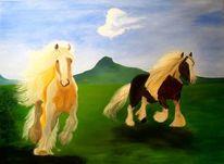 Basteln, Pferde, Landschaft, Irisch