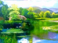 Russland, Ölmalerei, Wasser, Sommer