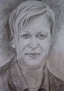 Portrait, Zeichnung, Bleistiftzeichnung, Zeichnen