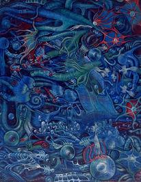 Fantasie, Wasser, Fisch, Abstrakt