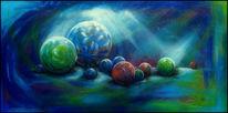 Ausdruck, Farben, Acrylmalerei, Kugel
