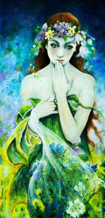 Natur, Mädchen, Gestalt, Farben