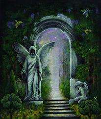 Eingang, Vogel, Engel, Mystik
