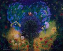 Fantasie, Blühen, Farben, Surreal