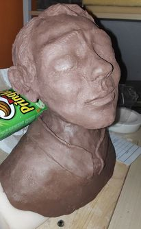 Skulptur, Kopf, Büste, Mann
